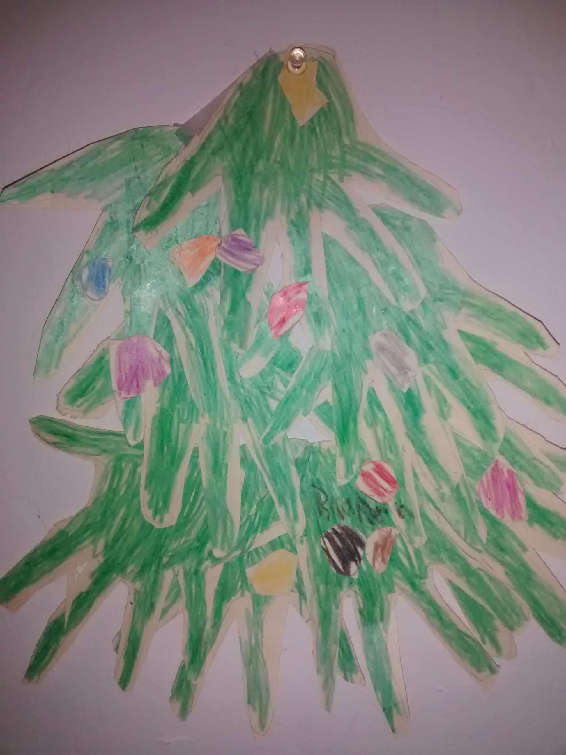 Hand Xmas Tree
